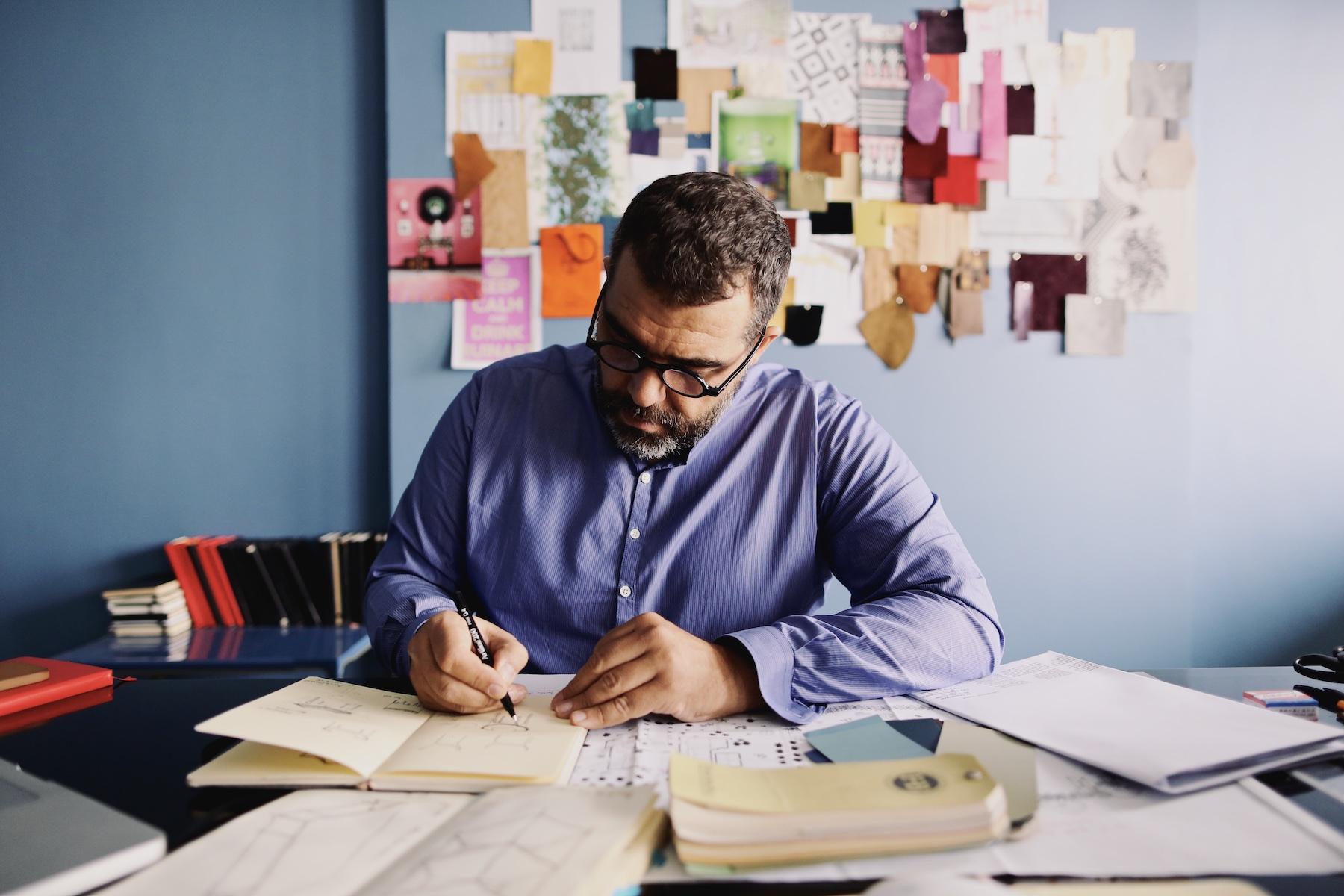 Bruno de Caumont, interior design, colorfull living