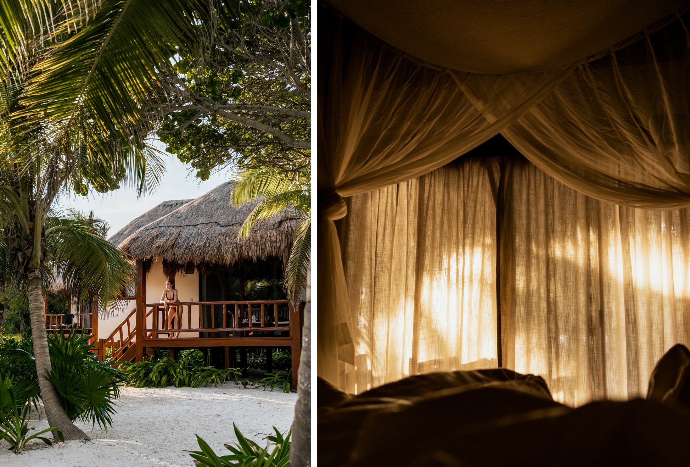 Mukan private beach houses and bedroom